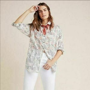 Anthropologie Enchanted Floral button down XS/S